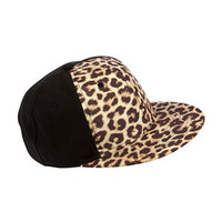 Chocolate Leopard Print Flat Peak Cap
