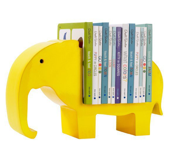 DwellStudio |  BOOKSHELF ELEPHANT LEMON - Room Decor - Baby