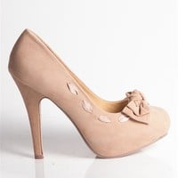 High Heel with Bow and Lace - Nude at Lucky 21 Lucky 21