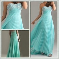 Gorgeous Empire Waist Pleat Prom dresses