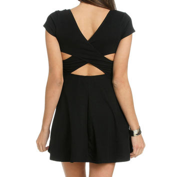 Cross Back Skater Dress | Shop Dresses at Wet Seal