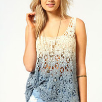 Amelie Dip Dye Crochet Top