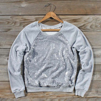 Snow Cabin Sequin Sweatshirt, Sweet Cozy Hoodies & Sweaters