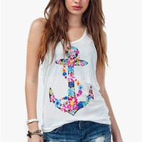 A&#x27;GACI Sweet Floral Wrapped Anchor Tank - TOPS