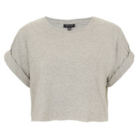 Roll Back Crop Tee - Top Rated - Topshop