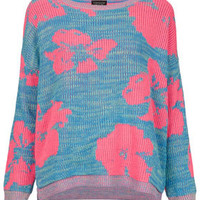 Knitted Large Floral Jumper