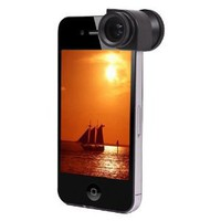 Amazon.com: CE Compass 3 in 1 Fisheye Lens + Micro Lens + Wide Angle Lens W/ Case For Apple iPhone 4 4S: Cell Phones & Accessories