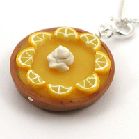 Lemon chiffon pie necklace