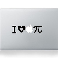 Love apple  ---  Mac Decal Macbook Decals Macbook Stickers Vinyl decal for Apple Macbook Pro/Air iPad