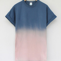 ANDCLOTHING  Sunset Dip Dye Tee