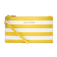 MICHAEL Michael Kors  Large Jet Set Striped Zip Pouch - Michael Kors