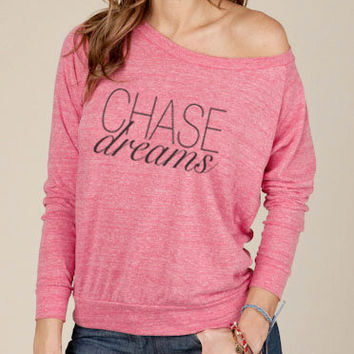 Chase Dreams Eco Fashion Slouchy Long Sleeve Pullover