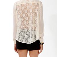 Lace Back Button Up | FOREVER 21 - 2025101474
