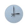 Elegant Dusk Blue And Bright Stars Pattern Wall Clock