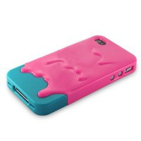 Amazon.com: Melt Ice Cream Detachable Hard Case for iPhone 4S/iPhone 4 (Rose+Green): Everything Else