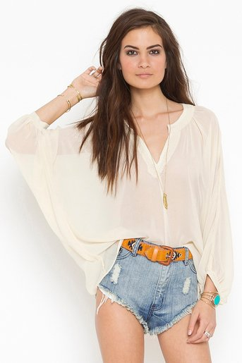 Beaded Chiffon Blouse in Clothes Tops at Nasty Gal
