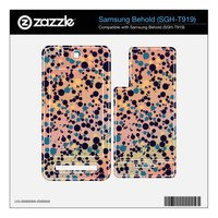 Blue Circles on Colorful Gradient Skin For Samsung Behold from Zazzle.com