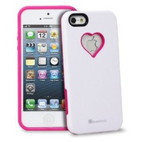 Amazon.com: GreatShield RADIANT Series Heart Shape Valentines Day Case for Apple iPhone 5 (Pink & White): Cell Phones & Accessories