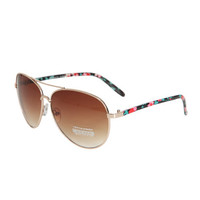 Floral Arm Aviator Sunglasses | Shop Accessories at Wet Seal