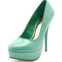 Charlotte Russe - Glossy Patent Platform Pump