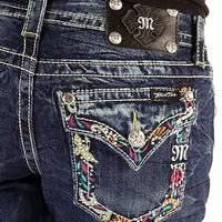 Miss Me Embroidered Stretch Cropped Jean - Women&#x27;s Crops | Buckle