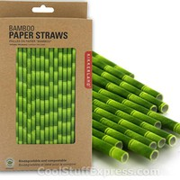 Biodegradable Bamboo Paper Straws