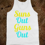 Suns out guns out white - Lazy Sundays