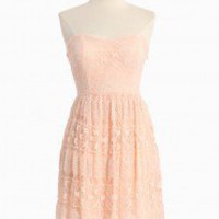 Glowing Emblem Lacy Strapless Dress In Pink | Modern Vintage New Arrivals