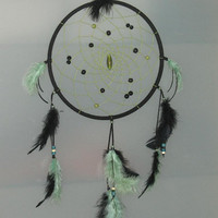 9 Black & Green Dream catcher by CatchMyDreams on Etsy