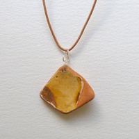 Terracotta Beach Pottery Pendant Necklace