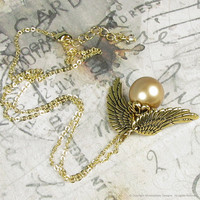 Harry Potter Golden Snitch Magical Pendant by whimsydaisydesigns