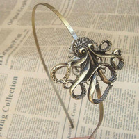 Steampunk Octopus Headband Vintage Style Original Design