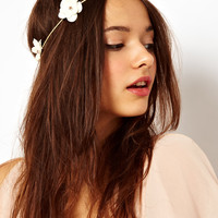 River Island Flower Garland Head Band