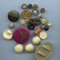 Nice group of vintage celluloid buttons
