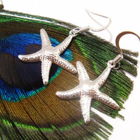 Beach Starfish earrings - Perfect jewelry for bridesmaids in beach wedding - Nautical gift for girlfriends, sisters FREE SHIPPING