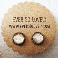 toffee nut latte earrings handmade sparkly by eversolovely
