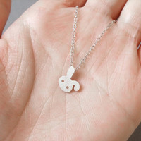 Bunny Rabbit Necklace No. 2 In Sterling Silver