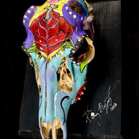Day of the Dead Deer Skull by HerDyingBreathStudio on Etsy