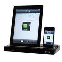 iPad/iPhone/Android Docking Station with Speakers  @ Sharper Image