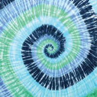 Blue Spiral Tie-dye Tapestry Dorm Decoration Display Colors Wall Hang Swirl Hippie