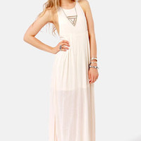 Walk the Walk Cream Maxi Dress