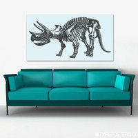 Triceratops Skeleton Huge Art Print