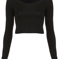 Long Sleeve Crop Tee - Top Rated - Collections - Topshop USA