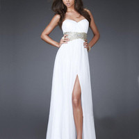 WowDresses — A-line Empire Waist Split Side Chiffon Prom Dress