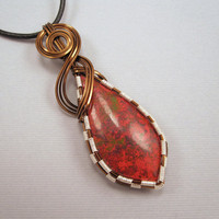 Sonora Sunrise Pendant Wire Wrapped Pendant on by UptightWanda