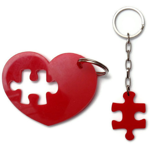 Product - Puzzle Heart Keychain Plexiglass Accessories,Lasercut Acrylic,Gifts Under 25 by bugga · Storenvy