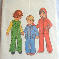 Simplicity Pattern 7774 Toddler Size 1 Hooded Jacket and Overalls