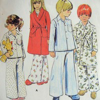 McCalls Pattern 6478 Children&#x27;s Robe and Pajamas Size 3
