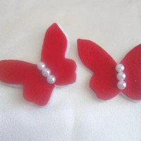 Hair Clip -- Felt butterfly on alligator or snap hair clip