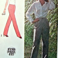Simplicity Sewing Pattern 9744 Misses 10 Pants Fuss Free Fit Vintage